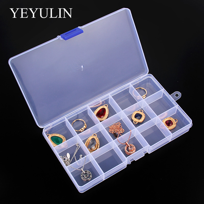 YEYULIN 15 Slot Jewelry Rectangle Display Storage Case 1pcs