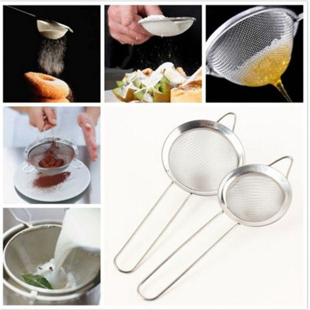 Stainless steel cooking utensils Mesh Strainer