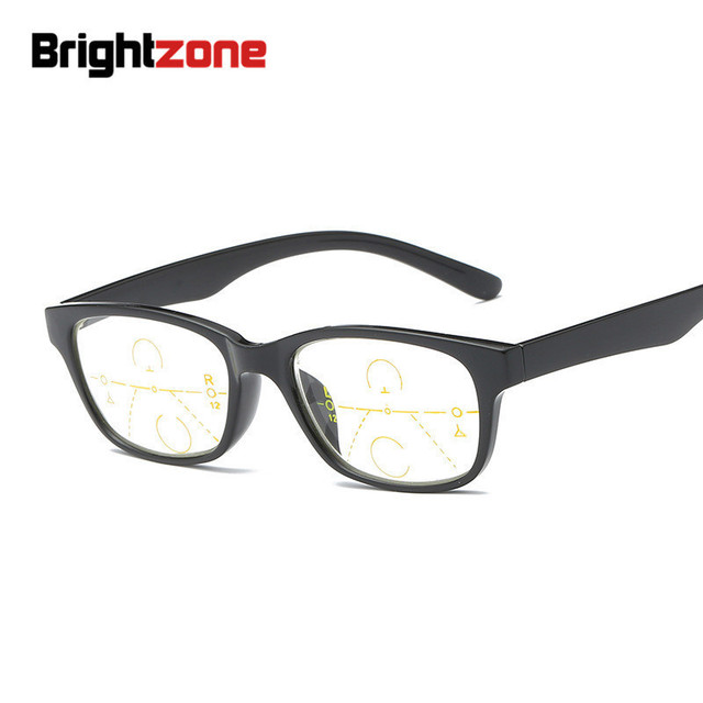 Brightzone TR90 Presbyopic Progressive Reading Men Round Vintage Multifocal Glasses Sight Magnifier Women Zoom Elderly Points