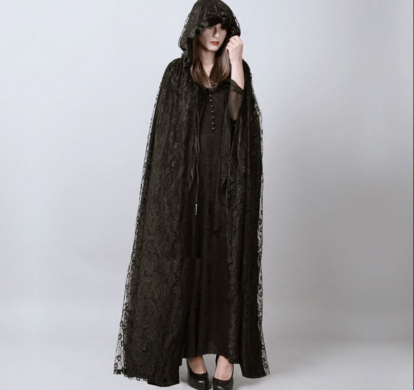 Black lace maxi jacket