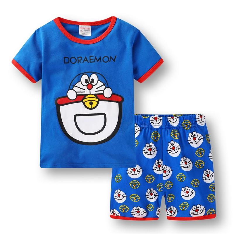 f52d493b9b07 Retail Children S Summer Pijamas Short Sleeved Sleeping Suits Baby ...