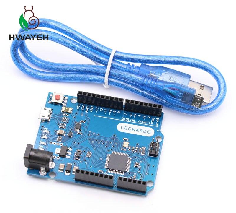 Carte de développement Leonardo R3 microcontrôleur Atmega32u4 avec câble USB Compatible pour Kit de démarrage arduino bricolage