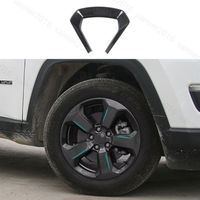 20pcs Black ABS Fit For Jeep Compass 2017 Wheel Round Decorator Frame Cover Trim