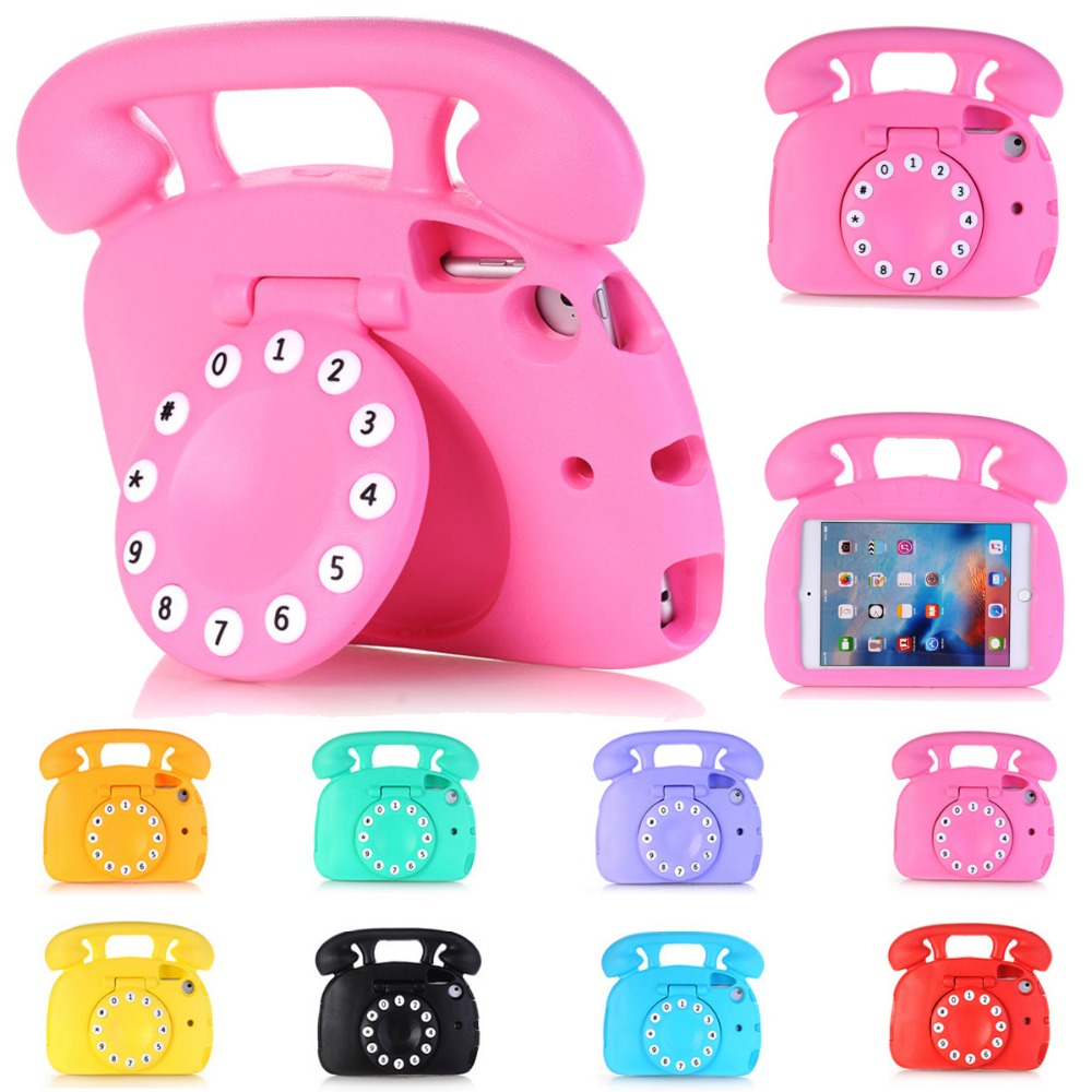 For <font><b>iPad</b></font> Mini Case Cute Telephone Kids Friendly Non-toxic EVA Foam Shockproof Stand Cover Cases for <font><b>iPad</b></font> Mini 1/2/3/4 Capa <font><b>Coque</b></font> image