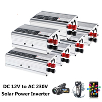 New 1000/1500W DC12V to AC 230V Solar Continuous Inverter Converter USB Output Stable Car Inverter Power Switch On board Charger