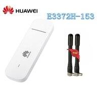 Разблокированный huawei E3372 E3372h-153 с антенной 4G LTE 150 Мбит/с USB модем 4G LTE USB Dongle E3372s-153