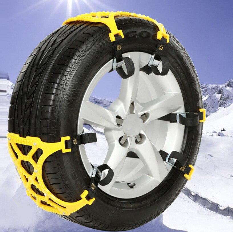 3 pièces universel réglable Double boucles voiture neige pneu anti-dérapant chaîne sécurité chaînes Auto extérieur Snap dérapage roues chaînes