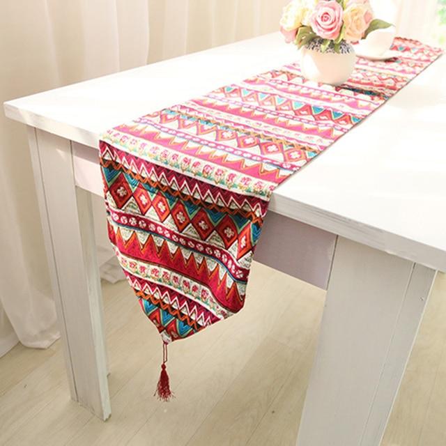 Table Runner Flag Bed Sofa Seats Garden Cover Towel Cotton Linen Tel Home Hotel
