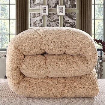 Berber Fleece Comforter Duvet Insert - Quilted Comforter with Corner Tabs - Box Stitched Down Alternative Comforter (Queen)