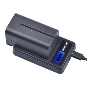 Image 4 - 2Pcs 5200mAh NP F750 NP F770 NP F750 סוללה Akku + LCD USB מטען עבור Sony NP F970 F960 f550 F570 QM91D CCD RV100 TRU47E
