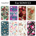 Newest Luxury DIY Painted Case For Sony Xperia E3 D2203 D2206  e3 Flip Cover High Quality in Stock Capa Fundas cases For Sony E3