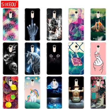 Silicone Case For xiaomi Redmi 5 Plus 5.99 Inch 5.7 inch Cover hongmi Phone Cases clear flower