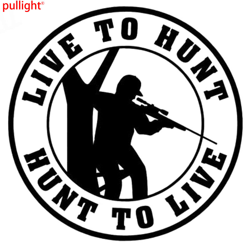Live To Hunt Sticker Vinyl Decal Car Window Hunting Deer Car Styling Car Stickers Decration