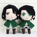 28cm Attack On Titan Plush Shingeki No Kyojin Levi Rivaille Figure Stuffed Plush Soft Dolls Toys Great Gift 2Styles Selectable