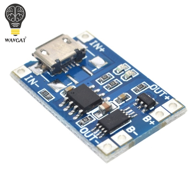 5 pcs Micro USB 5V 1A 18650 TP4056 Lithium Battery Charger Module Charging Board With Protection Dual Functions 1A Li-ion 4
