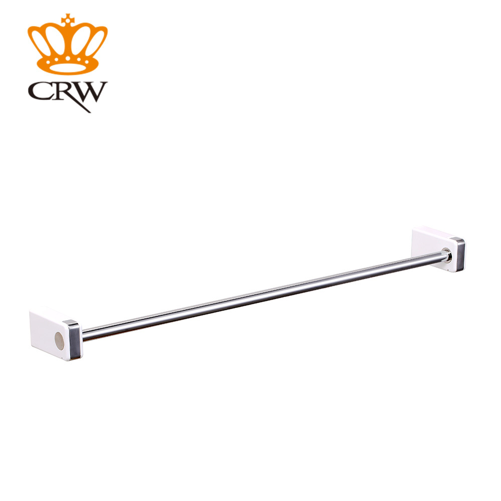 CRW Single Bar Towel Rack ABS & 304 Stainless Steel Material Bathroom Accessories 2015 New Arrival  F3001WC 2 Pcs/ PackCRW Single Bar Towel Rack ABS & 304 Stainless Steel Material Bathroom Accessories 2015 New Arrival  F3001WC 2 Pcs/ Pack