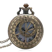 Бронзовые винтажные карманные часы с отверстиями Прага астрономические