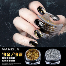 new gold silver paillette Magic Mirror Nail Glitters Shinning Powder DIY nail art tool