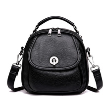 Fashion Backpack Women PU Leather Tote Bags Women's High Quality Shoulder Crossbody Bag for Girls Black Female Bags Backpacks
