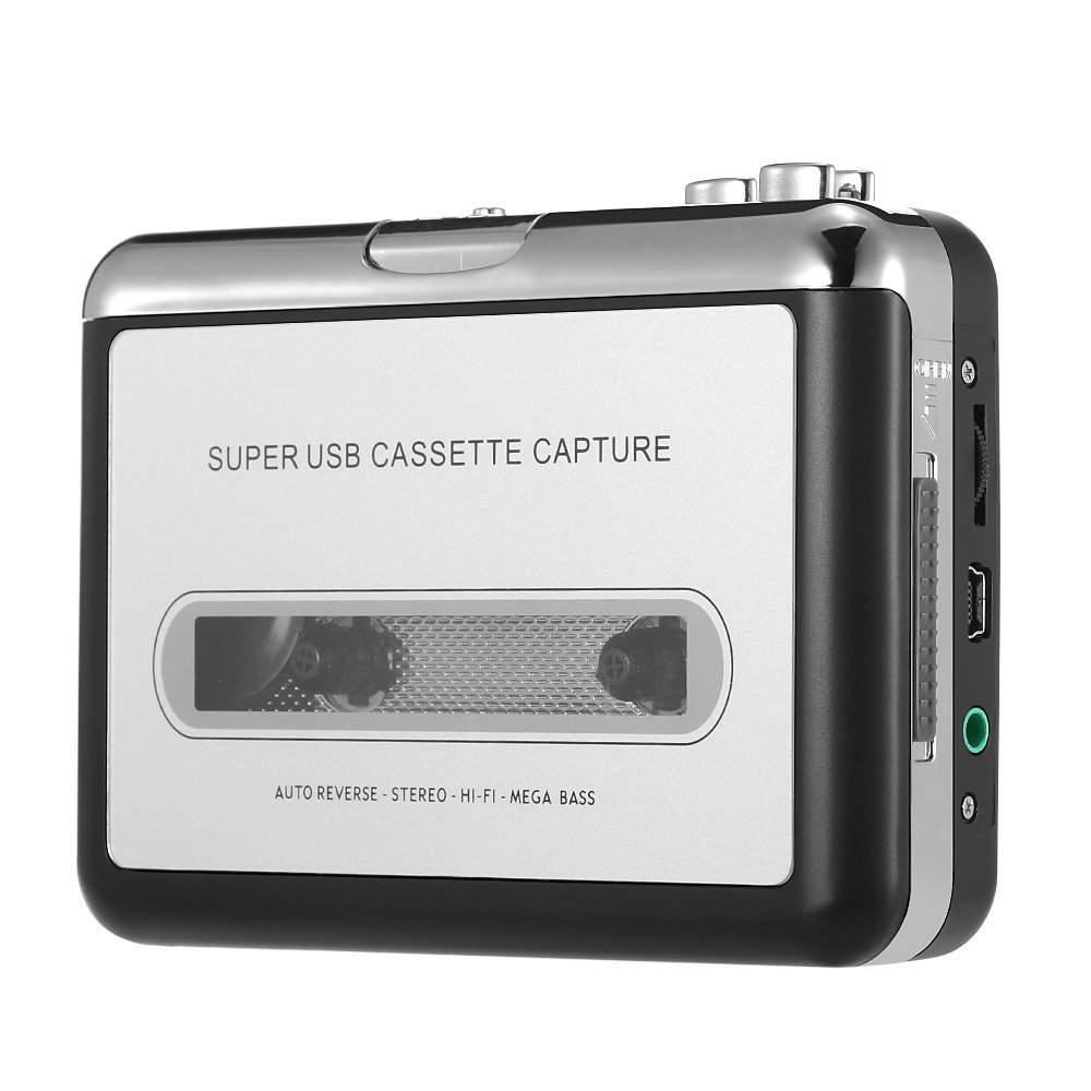 Handy Portable Tape to PC Super USB Cassette to MP3 Player Converter With USB Cable, Headphones and Software