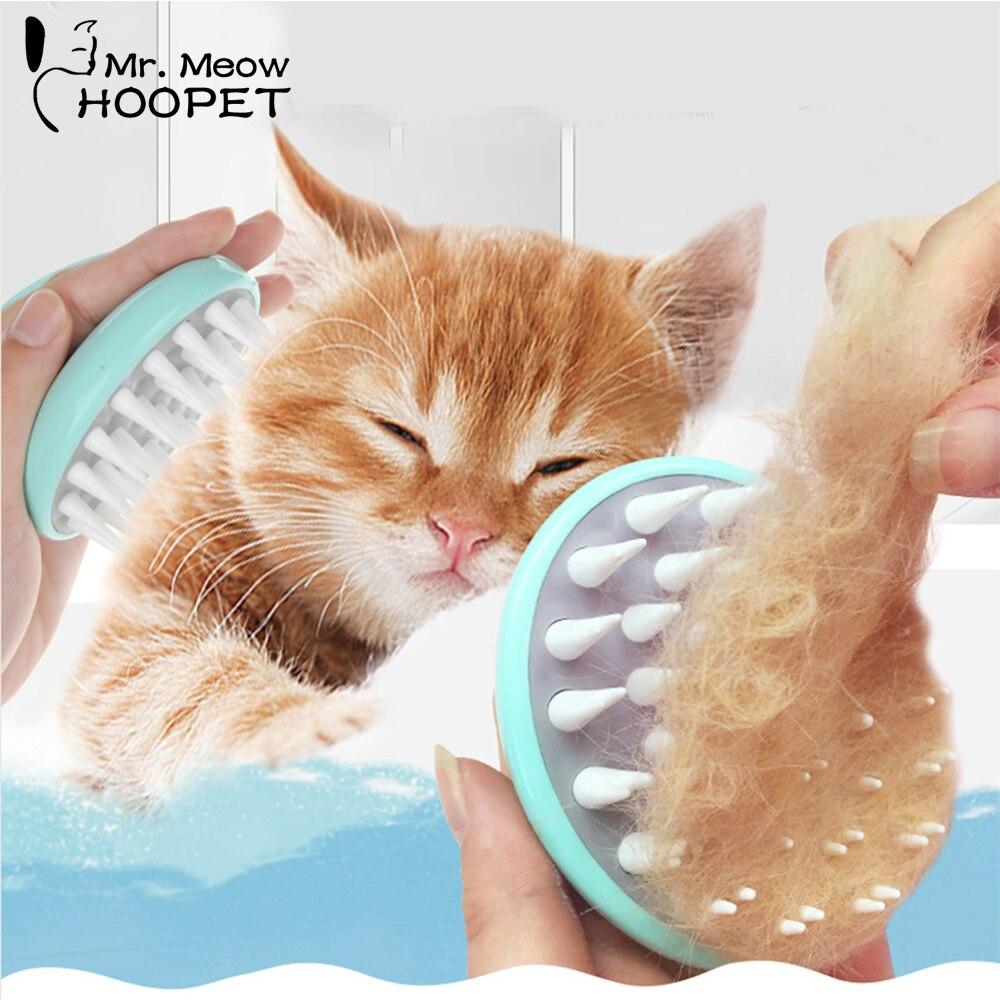 Hoopet Pet Pinsel Grooming Hund Welpen Katze Waschen Sauber Badebürste Kamm Hund Massage Dusche