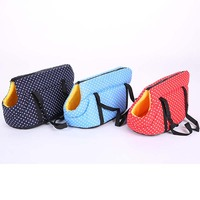 Portable Pet Bag Dog Carrier Travel Carrying Bags For Dogs And Cats Polka Dots Backpack Bag