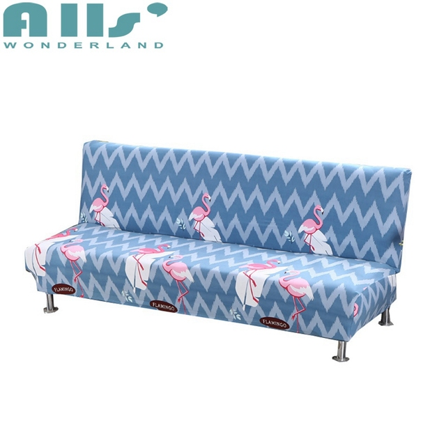 Striped Sofa Furniture Cover Pink Flamingo Pattern Elastic Cover Sofa  Slipcover Double Seat Blue Slipcovers For