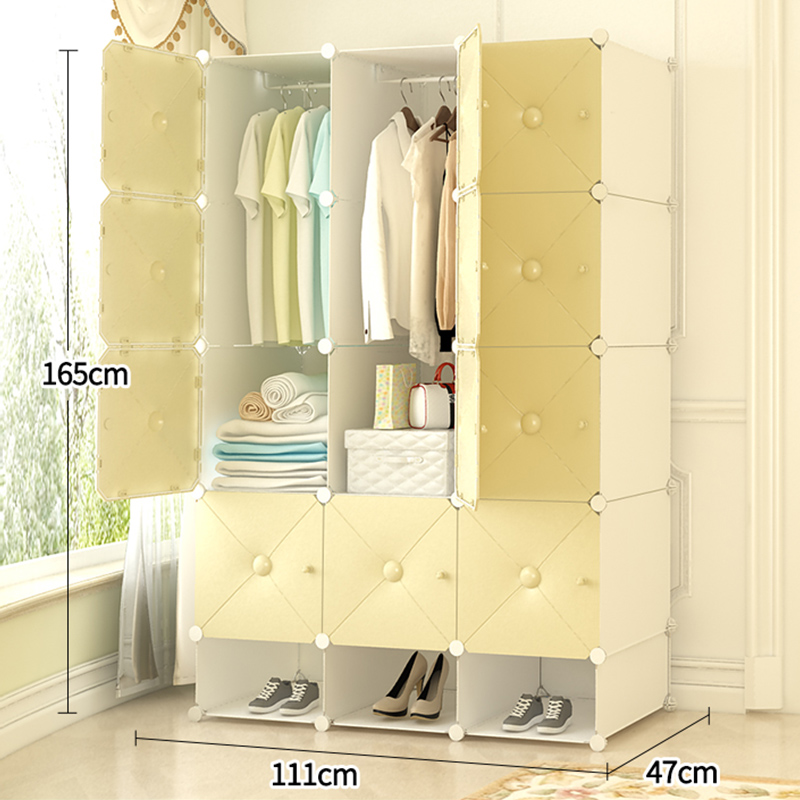Bedroom Organstorage Furniture When The Quarter Wardrobe DIY Non-woven Fold Portable Storage Cabinet Bedroom Furniture Wardrobe