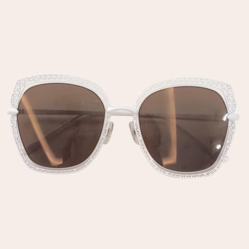 Metal Frame Gradiente Tonalidades Quadrados Óculos De Sol Das Mulheres 2019 Marca Designer de Moda Das Mulheres Do Vintage Óculos de Sol Oculos de sol UV400 - 6