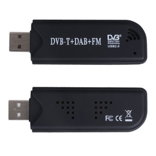 black mini digital tv stick usb dvb t dab fm radio tuner. Black Bedroom Furniture Sets. Home Design Ideas