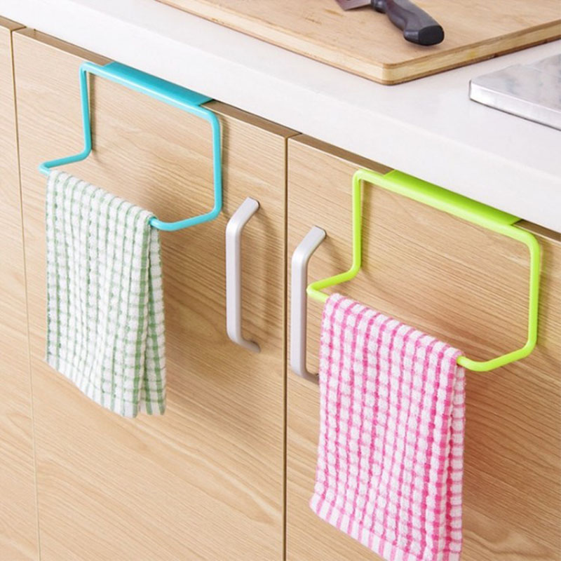 Permalink to Kitchen Organizer Towel Rack Hanging Holder Bathroom Cabinet Cupboard Hanger Shelf For Kitchen Supplies Accessories