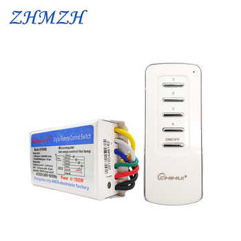 CHIHUI AC 220V--240V 4 Way 5 Sections ON/OFF Smart Digital Wireless Remote Control Switch Receiver Transmitter for Lamps 3 Ways - DISCOUNT ITEM  30% OFF All Category