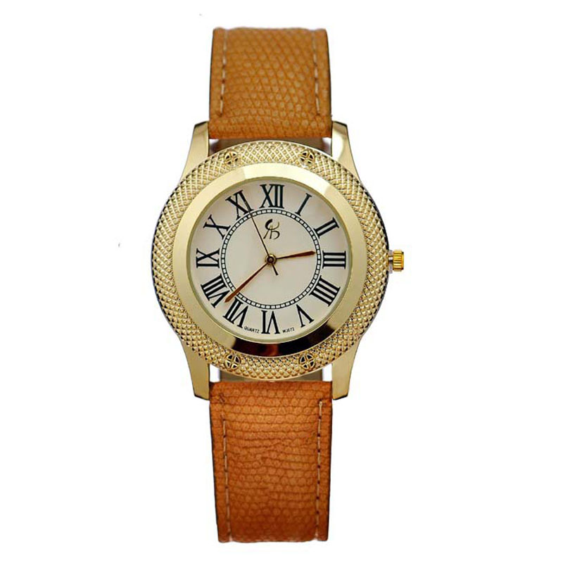 2015 Brand New High Quality 4 Color Option Men PU Leather Wristwatch Retro Roman Quartz Ladies