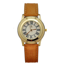 2015 Brand New High Quality 4 Color Option Men PU Leather Wristwatch Retro Roman Quartz Ladies
