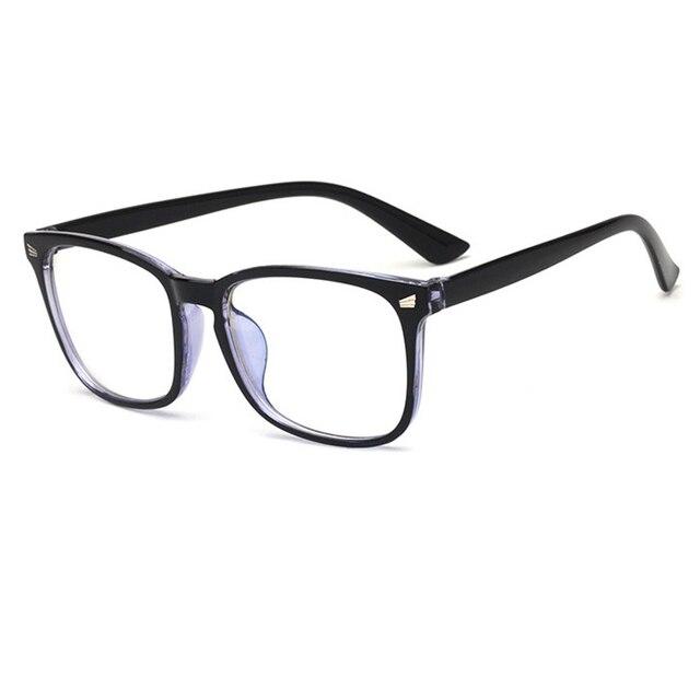 413279572c New PC Square Eyeglasses Frames Men Women Optical Plain Mirror Coating lens Eye  Glasses Frame for Myopia Glasses Anti-radiation