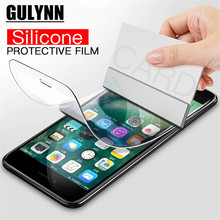 GULYNN 3D Full Coverage Soft Protector Film For iPhone 6 6S 7 8 Plus X  Screen Protective Not Glass