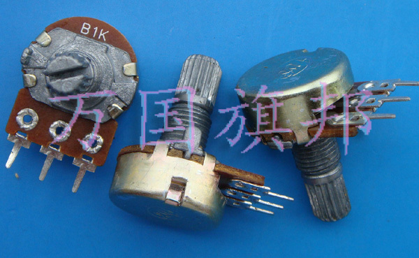 Free Delivery.WH148 B1K potentiometer single short handle
