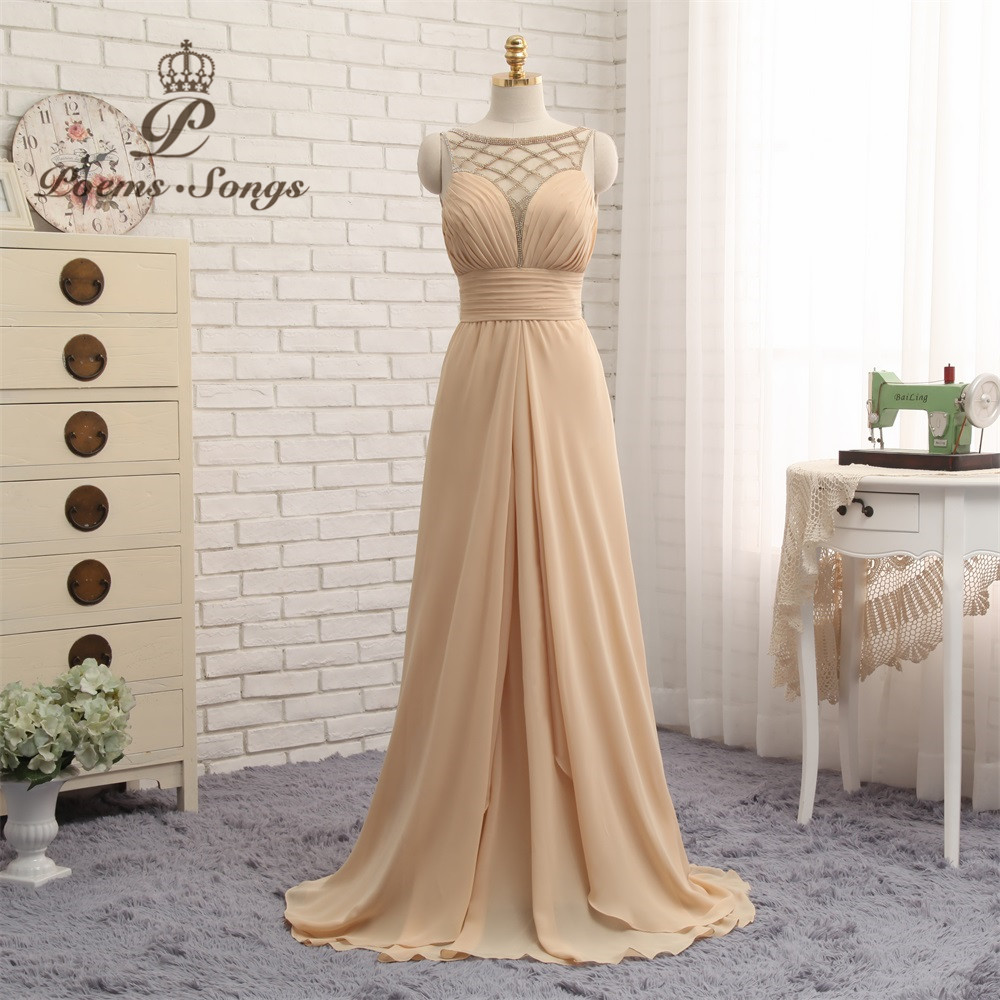 Poems Songs 2018 New Formal   Evening     Dress   long elegant women sleeveless Prom   Dress   vestido de festa longo abiye