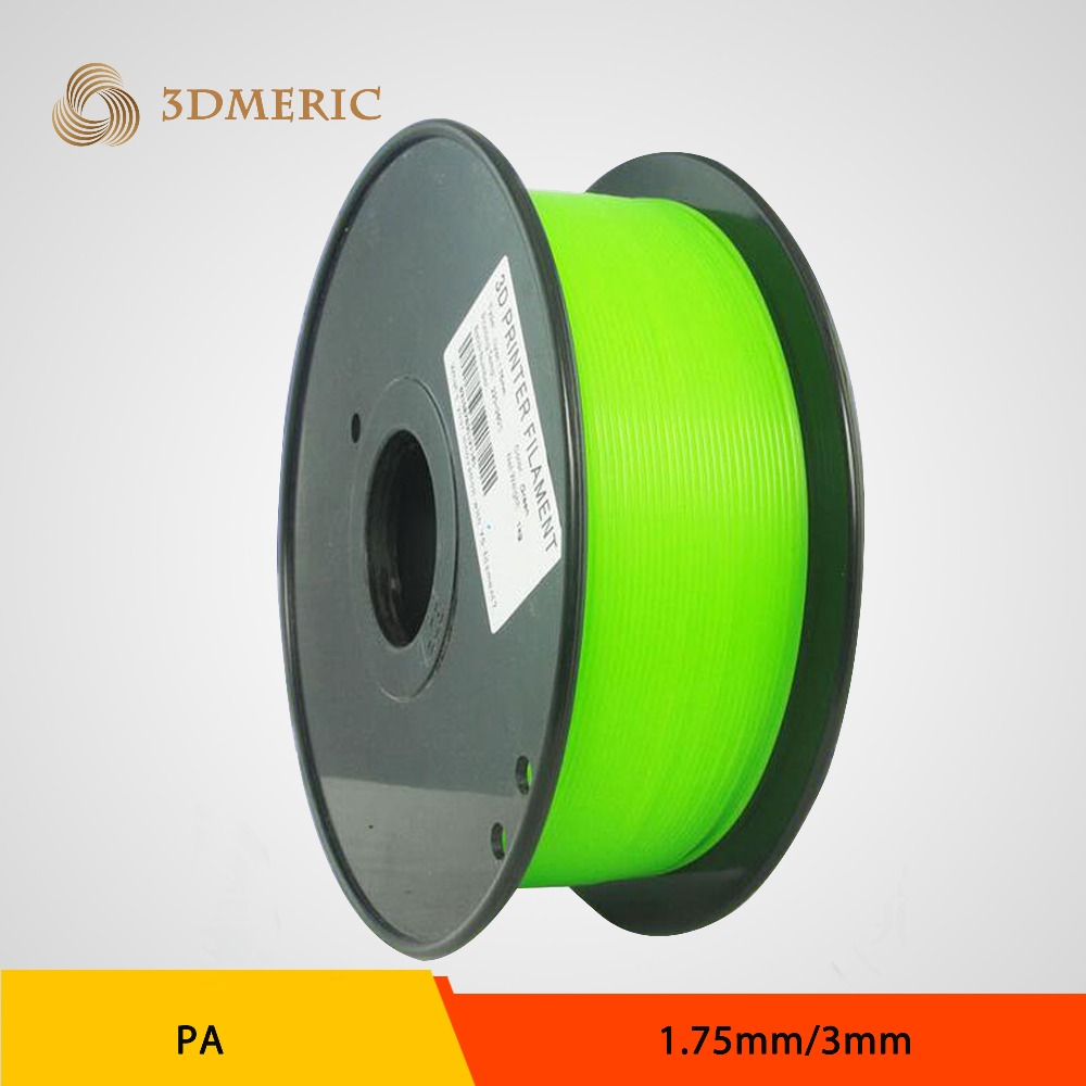 1KG/spool 1.75MM/3MM 3D Printer Nylon PA Filament Material Consumables For MakerBot/RepRap/Mendel 3d printer abs filament 3mm 1kg spool for 3d printing no bubble about 135m white color tolerance 0 02mm for makerbot reprap up