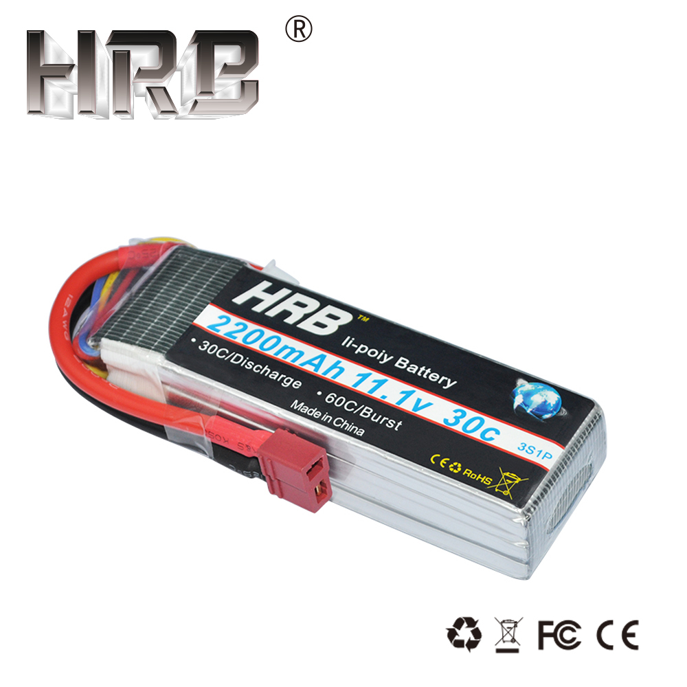HRB 3S Lipo Battery 11.1V 2200mah 30C RC ნაწილები T XT60 Deans TRX XT90 EC5 JST For Axial SCX10 Airplane FPV Drone Racing Cars Boat