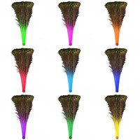 wholesale 100 200Pcs/Lot natural peacock feathers 70 80CM / 28 32 inch DIY production feathers for crafts wedding decoration