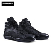 2018 Fashion Comfortable Men Casual Shoes Lace Up Winter Genuine Leather Male Boots Footwear Plus Size Soft Lightweight Outsole