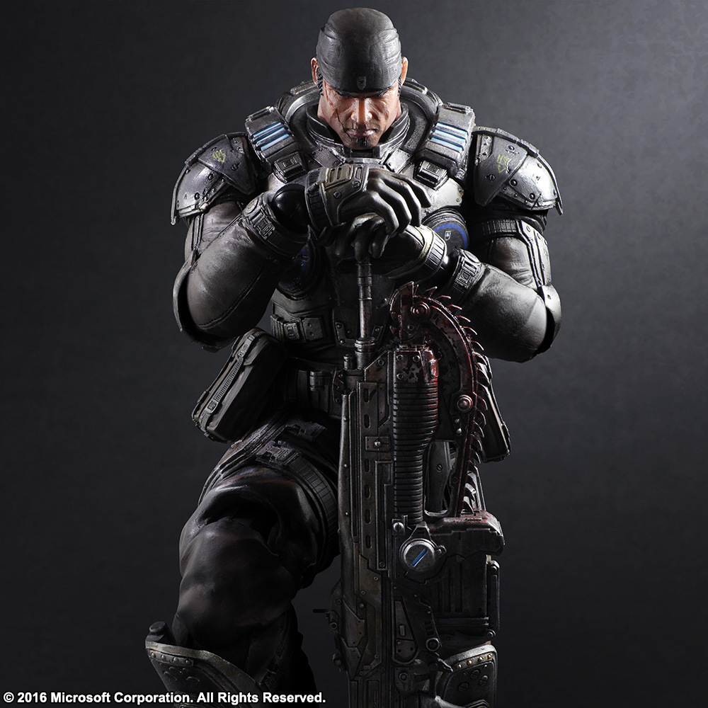 11 Play Arts Kai PA Marcus Fenix game Gears of War 3 war machine harley quinn joker PVC action Figure Collection Model Toy майка классическая printio gears of war 2