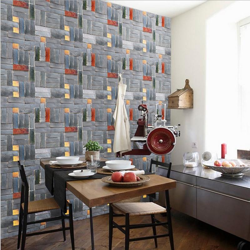 Kids Rooms Decorating Ideas Red Brick Wallpaper: 45cmX1M Simulation Brick Decorative Sticker Self Adhesive