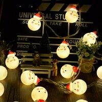 Haochu Рождество ночь Новый год украшение прекрасный снеговик строки цепи луковицы партия бар Спальня орнамент елку подвеска