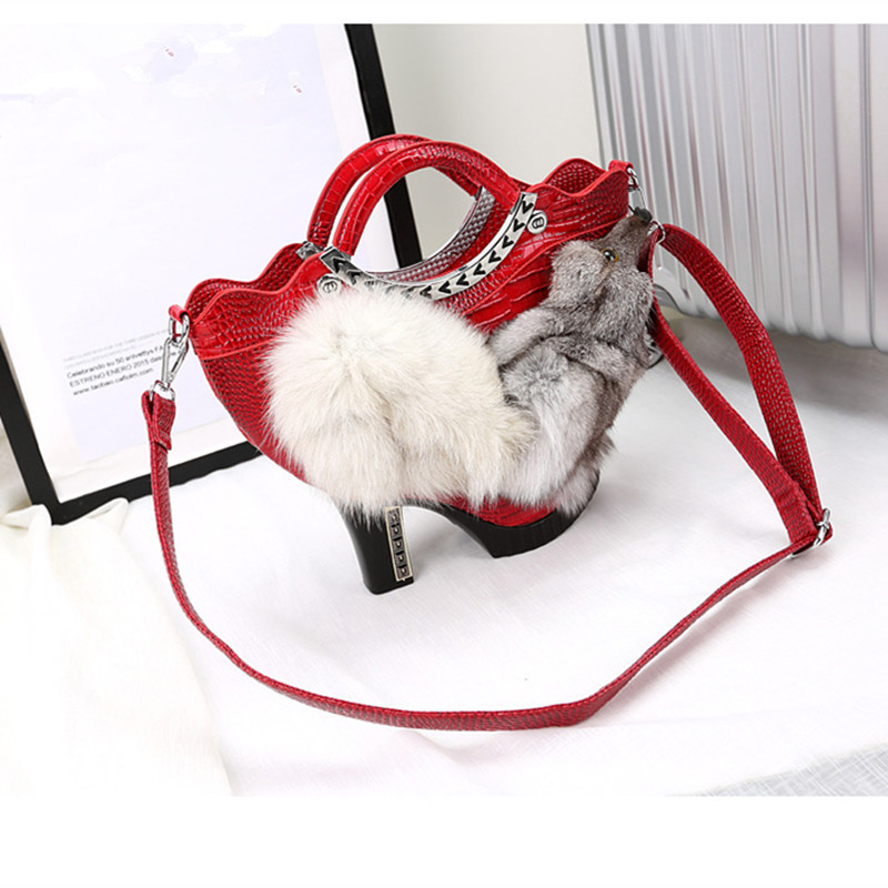 Luxury Shoes Design Handbags Women Genuine Fox Handbag Women Brand Shoulder Bags Shoulder Bags Female Handbags