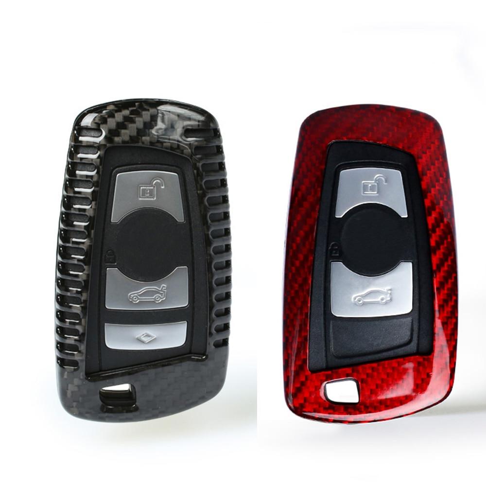 TTCR II Carbon Fiber Car Remote Key Case Cover For BMW E46 E39 E90 E36 E60