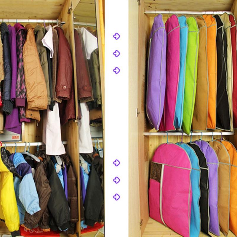 Toz geçirmez çanta Kalınlaşmak dokunmamış Elbise toz kapağı - Evdeki Organizasyon ve Depolama - Fotoğraf 2