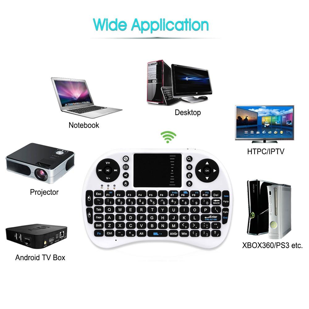 i8 Mini laetav juhtmeta klaviatuur 2.4G inglise vene versioon Air - Arvuti välisseadmed - Foto 5