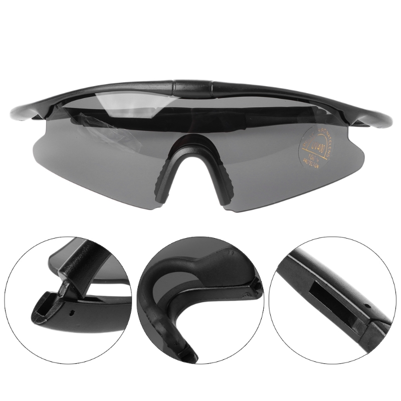 Men Women Riding Goggles Tactical Glasses Hunting Military Sport UV400 Sunglasses + Sunglasses Bag Sunglasses box
